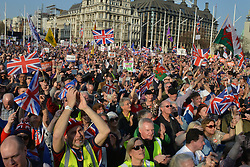 March 29, 2019 - London, London, United Kingdom - Image licensed to i-Images Picture Agency. 29/03/2019. London, United Kingdom. Thousands of Pro-Brexit protesters gather in Westminster, London, for a Leave Means Leave rally  (Credit Image: © Howard Jones/i-Images via ZUMA Press)