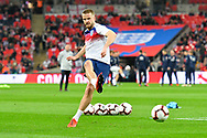Eric Dier of England warming up before the UEFA European 2020 Qualifier match between England and Czech Republic at Wembley Stadium, London, England on 22 March 2019.