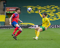 Blackburn Rovers' Joseph Rankin-Costello (left) and Norwich City's Emi Buendia (right) <br /> <br /> Photographer David Horton/CameraSport<br /> <br /> The EFL Sky Bet Championship - Norwich City v Blackburn Rovers - Saturday 20th March 2021 - Carrow Road - Norwich<br /> <br /> World Copyright © 2021 CameraSport. All rights reserved. 43 Linden Ave. Countesthorpe. Leicester. England. LE8 5PG - Tel: +44 (0) 116 277 4147 - admin@camerasport.com - www.camerasport.com