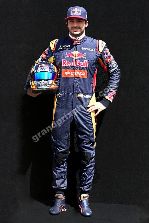 Carlo Sainz Jr. (Toro Rosso-Renault) before the 2015 Australian Grand Prix in Albert Park, Melbourne. Photo: Grand Prix Photo