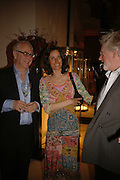 DON BOYD,  MARCHIONESS OF WORCESTER AND HUGH HUDSON, Champagne reception celebrating 100 years of Chinese cinema  hosted by Hamish McAlpine of Tartan Films, Raising money for Care For Children, a foster care programme in China. Aspreys. New Bond St. London. 25 April 2006. ONE TIME USE ONLY - DO NOT ARCHIVE  © Copyright Photograph by Dafydd Jones 66 Stockwell Park Rd. London SW9 0DA Tel 020 7733 0108 www.dafjones.com