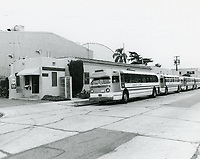 1976 Buses in front of General Services Studios on Las Palmas Ave.