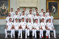 Cricket - 2019 Middlesex CCC Pre-Season Press Day - Lords  in the ' Long room '<br /> <br /> Middlesex team group :<br /> l-r Back row : Robbie White,Ethan, Bamber, George Scott, Martin Anderson, Max Holden, Jack Davies, Nathan Sowter.<br /> Middle row : Paul Stirling,Tom Barber,Tom Helm,Ollie Rayner, James Harris, Nick Gubbins, Stephen Eskinazi.<br /> Sitting : Toby Roland - Jones, Tim Murtagh, Steven Finn, Dawid Malan, Sam Robson, John Simpson, Eoin Morgan.<br /> <br /> COLORSPORT/ANDREW COWIE