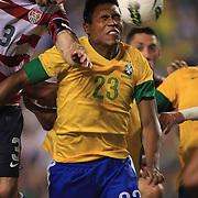 Alex Sandro, Brazil, in action during the USA V Brazil International friendly soccer match at FedEx Field, Washington DC, USA. 30th May 2012. Photo Tim Clayton
