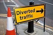 Traffic diversion sign.