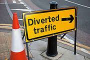 Traffic diversion sign.
