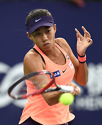 ZHUHAI, Nov. 5, 2016  Zhang Shuai of China returns a hit during the women's singles semifinal against Petra Kvitova of the Czech Republic at the WTA Elite Trophy tournament in Zhuhai, south China's Guangdong Province,on Nov. 5, 2016. Zhang Shuai lost 0-2. (Credit Image: © Lu Hanxin/Xinhua via ZUMA Wire)