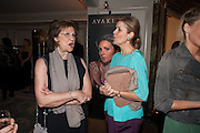 TALINE AVAKIAN; HAYAT PALUMBO , The Foreign Sisters lunch sponsored by Avakian in aid of Cancer Research UK. The Dorchester. 15 May 2012