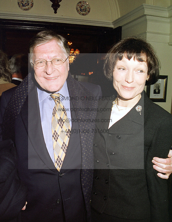 SIR PAUL & LADY GETTY, he is the billionaire, at a luncheon in London on 3rd February 1999.MNW 66