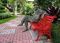 """""""Quincho,"""" a scuplture by Luis Castillo in the gardens of the Hotel Bougainvillea, Santo Domingo de Heredia, Costa Rica"""