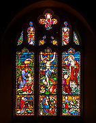 Stained glass window Easton Royal church, Wiltshire, England, UK by Lavers, Barraud and Westlake 1865