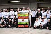 October 8, 2015: Russian GP 2015: Mclaren Honda team celebrate Fernando Alonso's 250th GP.
