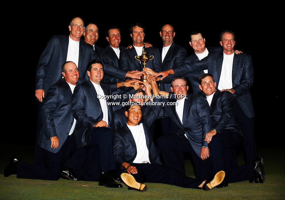 Team USA with trophy during Singles 2008 Ryder Cup Matches, Valhalla, Louisville, Kentucky, USA.