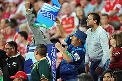 10/03/2018 Blues supporters wave flags. Gauteng Lions vs the Auckland Blues at Emirates Airlines Stadium, Ellis Park, Johannesburg, South Africa. Picture: Karen Sandison/African News Agency (ANA)