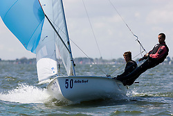 Medemblik - the Netherlands, May 28th 2009. Delta Lloyd Regatta in Medemblik (27/31 May 2009). Day 2. Nicolas Charbonnier & Baptiste Meyer.