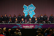 The Dream Team and Coaching staffs during the USA Men's basketball media conference. Main Press Centre, Olympic Park, London, United Kingdom. Friday 27th July 2012. Photo: Anthony Au-Yeung / photosport.co.nz