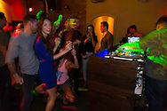 Manifest, a bar on hotel street on the edge of Chinatown in downtown Honolulu, is a hipster night club featuring dj music, dancing and a cocktail bar