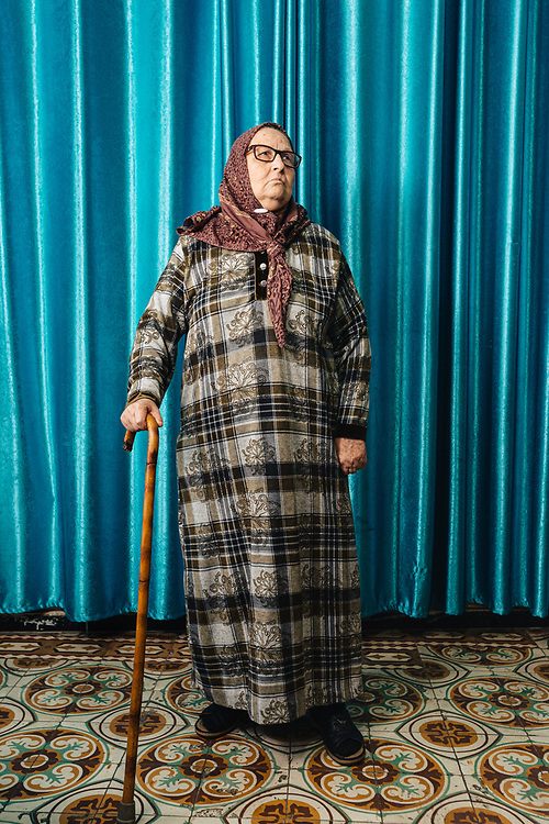 Leila Jabarin, 78, poses for a photograph at her home in the Arab town of Umm al-Fahm, Israel, on January 07, 2020.