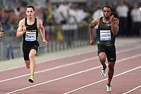 Filippo TORTU Italy, Ronnie BAKER USA Winner 100m Men <br /> Roma 31-05-2018 Stadio Olimpico  <br /> Iaaf Diamond League Golden Gala <br /> Athletic Meeting <br /> Foto Andrea Staccioli/Insidefoto