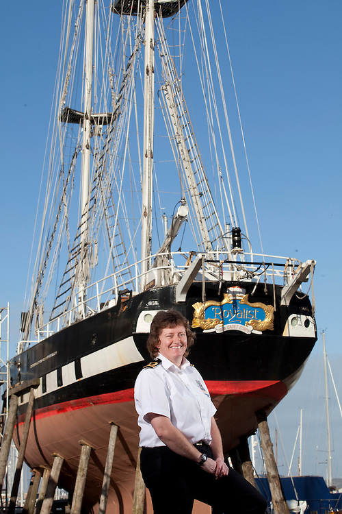Gosport , Hampshire - Queens Jubille Boats - Angela Morris the Commanding  Officer of TS Royalist - some pics with Roy Taylor Sail Master
