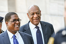 June 13, 2017 - Norristown, Pennsylvania, U.S - BILL COSBY, walks up to the courthouse in Montgomery County with his spokesperson, ANDREW WYATT, on the second day of jury deliberations. (Credit Image: © Ricky Fitchett via ZUMA Wire)