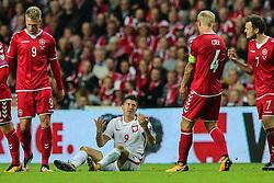 September 1, 2017 - Copenhagen, Denmark - Robert Lewandowski (POL),  during the FIFA 2018 World Cup Qualifier between Denmark and Poland at Parken Stadion on September 1, 2017 in Copenhagen. (Credit Image: © Foto Olimpik/NurPhoto via ZUMA Press)