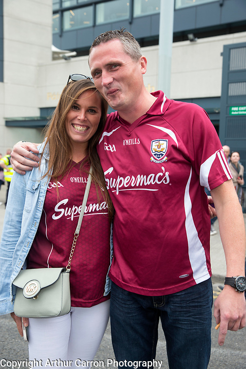 6/9/15 Tomasina Brosnan and Shane Neylon, Eyre Court at the All Ireland hurling final between Galway and Kilkenny at Croke Park. Picture:Arthur Carron