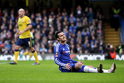 Pedro of Chelsea looks frustrated after missing a chance - Mandatory byline: Robbie Stephenson/JMP - 10/01/2016 - FOOTBALL - Stamford Bridge - London, England - Chelsea v Scunthrope United - FA Cup Third Round
