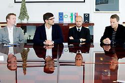 Peter Prelc, Matjaz Rakovec, Dejan Kontrec and Tone Jagodic during press conference of Slovenian Ice hockey Federation HZS, on December 27, 2013 in Hala Tivoli, Ljubljana, Slovenia.  Photo by Vid Ponikvar / Sportida