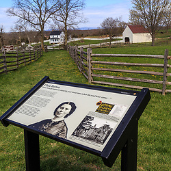 The battlefield information guide explaining Clara Barton's service during the Battle of Antietam.