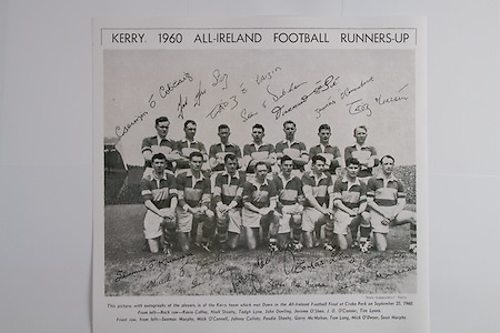 Kerry Team..Back row (from left) Kevin Coffey, Niall Sheehy, Tadgh Lyne, John Dowling, Jerome O'Shea, J D O'Connor, Tim Lyons. Front row (from left) Seamus Murphy, MIck O'Connell, Johnny Culloty, Paudie Sheehy, Garry McMahon, Tom Long, Mick O'Dwyer, Sean Murphy,.