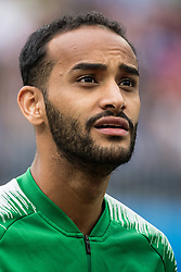 June 14, 2018 - Moscow, Russia - 180614 Abdullah Otayf of Saudi Arabia prior the FIFA World Cup group stage match between Russia and Saudi Arabia on June 14, 2018 in Moscow..Photo: Petter Arvidson / BILDBYRN / kod PA / 92065 (Credit Image: © Petter Arvidson/Bildbyran via ZUMA Press)