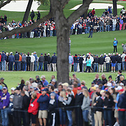 Ryder Cup 2016. Martin Kaymer of Europe plays his approach shot on the 16th during practice day in front of massive crowds at the Hazeltine National Golf Club on September 28, 2016 in Chaska, Minnesota.  (Photo by Tim Clayton/Corbis via Getty Images)