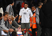 Photo: Ashley Pickering/Sportsbeat Images.<br /> Ipswich Town v Bristol City. Coca Cola Championship. 10/11/2007.<br /> Bradley Orr of Bristol leaves the pitch after being dismissed early in the first half for bringing Danny Haynes down in the box