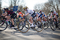 Emma Johansson (Wiggle Hi5 Cycling Team) rides in the main pack in the first, short lap of Trofeo Alfredo Binda - a 123.3km road race from Gavirate to Cittiglio on March 20, 2016 in Varese, Italy.