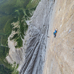 Dexter Bateman climbing The Shining, 5.13+  on Mt Louis