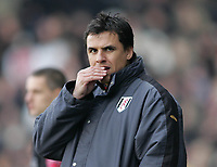 Photo: Lee Earle.<br /> Fulham v Arsenal. The Barclays Premiership. 04/03/2006. Fulham manager Chris Coleman.