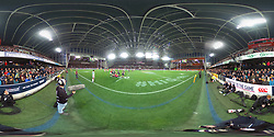 A 360 degree view of the Forsyth Barr Stadium during the match