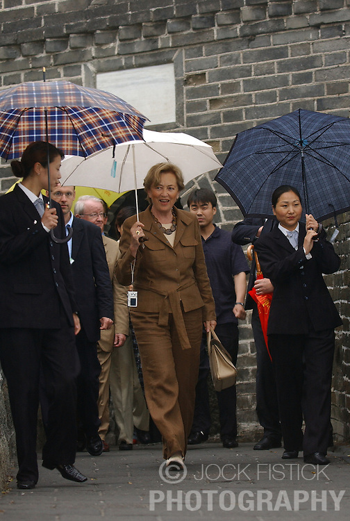BEIJING, CHINA - JUNE-5-2005 - Queen Paola of Belgium visits the Great Wall of China. (Photo © Jock Fistick)