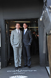 Left to right, NICK CANDY and CHRISTIAN CANDY at the launch of One Hyde Park, The Residences at Mandarin Oriental, Knightsbridge, London on 19th January 2011.