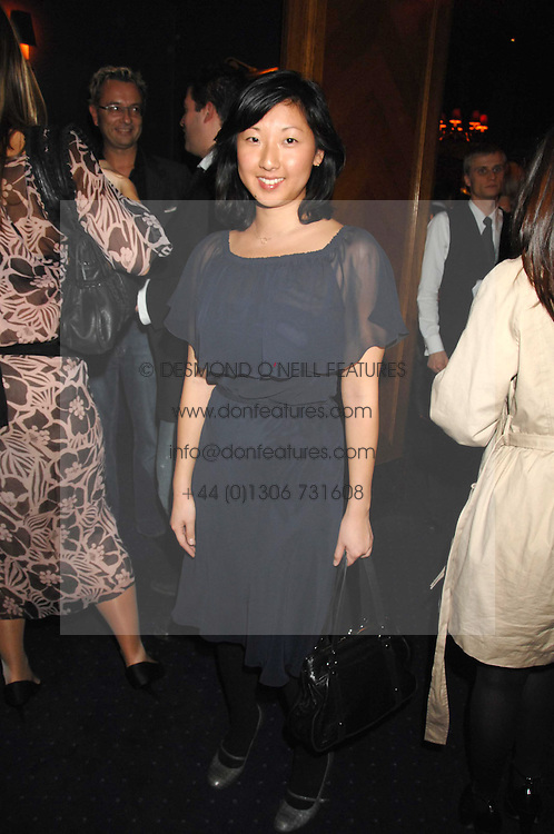 Shoe designer BEATRIX ONG at a party to celebrate the publication of the 2007 Tatler Little Black Book held at Tramp, 40 Jermyn Street, London on 7th November 2007.<br />