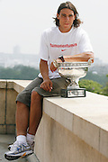 Trocadéro-Paris, France. June 11th 2007..Rafael NADAL at the Trocadéro for the picture with the Mousquetaires Cup.