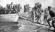 World War I 1914-1918: Senegalese, French colonial troops,  part of the Allied expeditionary force at Gallipoli. From 'Le Pays de France', Paris, 17 June 1915.  Military , Army, Soldier, Dardanelles, Turkey