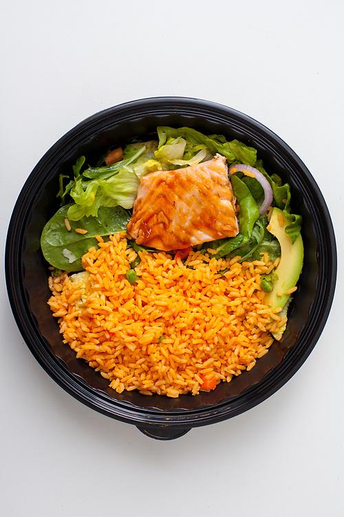 Teriyaki Salmon Salad from Trece Mexican Restaurant ($3.46) - MealPal Promo (50% off)