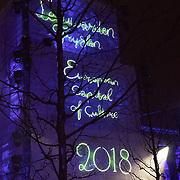 NLD/Leeuwarden/20180127 - Alexander en Maxima openen Leeuwarden-Fryslân 2018, schaalmodel van de Oldehove