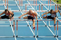 29-07-2010 ATLETIEK: EUROPEAN ATHLETICS CHAMPIONSHIPS: BARCELONA <br /> Marcel van der Westen plaatste zich donderdag in Barcelona tijdens de EK heel gemakkelijk voor de halve finale van de 110 meter horden <br /> ©2010-WWW.FOTOHOOGENDOORN.NL