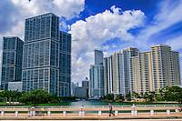 Icon Brickell Towers (left) & Miami Skyline