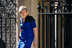© Licensed to London News Pictures. 14/05/2019. London, UK. British Prime Minister Theresa May meets NATO Secretary General Jens Stoltenberg (not pictured) in Downing Street for a meeting. Photo credit : Tom Nicholson/LNP