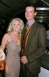 MISS VANESSA JARMAN and MR BILLY GETTY, son of Gordon Getty, at a party in London on 27th May 1997.LYT 5