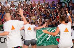 Spectators during women final match of Slovenian National Championship in beach volleyball Kranj 2012, on June 30, 2012 in Kranj, Slovenia. (Photo by Vid Ponikvar / Sportida.com)